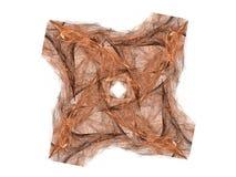 Orange fractal med den blom- modellen Arkivfoton