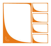 Orange frame Stock Image