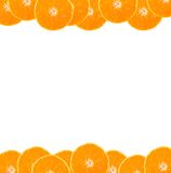 Orange frame. Frame made from oranges with blank space for your text stock photos