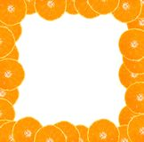 Orange frame. Frame made from oranges with blank space for your text royalty free stock photos