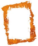 Orange frame Stock Photo