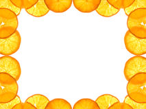 Orange frame Stock Photos