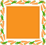 Orange frame of carrots Stock Images