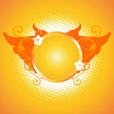 Orange frame, design element Royalty Free Stock Image
