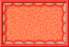 Orange frame with fabric round borders Stock Images