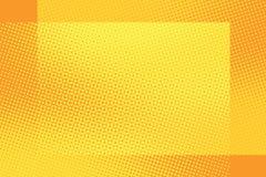 Orange frame pop art retro background Stock Photos