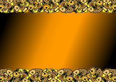 Orange frame with shapeless spots. () royalty free illustration