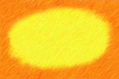 Orange frame sketch illustration Royalty Free Stock Photography
