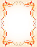 Orange frame with stripes. Vector illustration of a orange frame with stripes Royalty Free Stock Photos