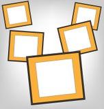 Orange frames on grayscale Stock Image