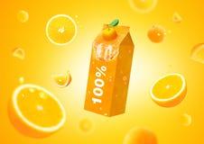Orange fresh background. Use for creative design advertising Royalty Free Stock Photography