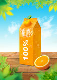 Orange fresh background. Use for creative design advertising Royalty Free Stock Images