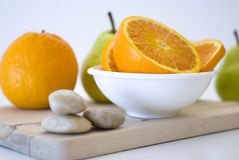 Orange fresh fruit Stock Photography