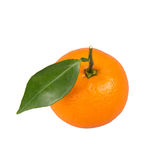 Orange. Fresh orange with green leaf Royalty Free Stock Photography