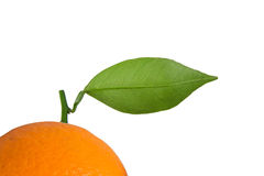 Orange. Fresh orange with green leaf Royalty Free Stock Images