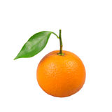 Orange. Fresh orange with green leaf Royalty Free Stock Photos
