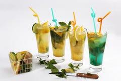 Orange fresh juice with lemon lime and mint royalty free stock photo