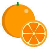 Orange fresh juicy citrus fruit icon, vector illustration Royalty Free Stock Photography