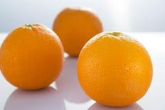 Orange. Fresh orange on white background royalty free stock photos