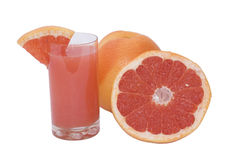 Orange freshness grapefruit with juice Royalty Free Stock Photos