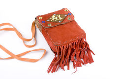 Orange fringe purse Royalty Free Stock Image