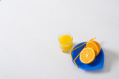 Orange frischer Saft im Glas Lizenzfreies Stockbild