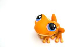 Orange frog toy Royalty Free Stock Photos