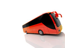 Orange front side bus. A orange front side bus with reflection Royalty Free Stock Photography
