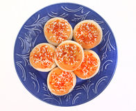 Orange Frosted Sugar Cookies with Sprinkles Royalty Free Stock Photography