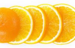 Orange Frucht auf Weiß Stockbild