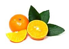 Orange Frucht auf weißem Hintergrund Stockfoto