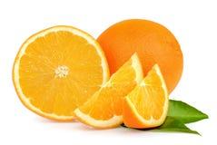 Orange Frucht auf weißem Hintergrund Lizenzfreie Stockfotos