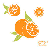 Orange Frucht auf weißem Hintergrund Lizenzfreies Stockbild