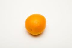 Orange Frucht auf weißen Hintergründen Stockfotos