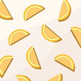 Orange Frucht-flache Digital-Tapete vektor abbildung