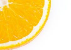 Orange Frucht getrennt auf Weiß Stockbild