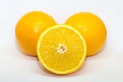 Orange Frucht getrennt auf weißem Hintergrund Stockbild