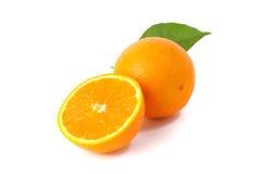 Orange Frucht getrennt auf weißem Hintergrund Stockfotografie