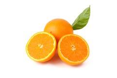 Orange Frucht getrennt auf weißem Hintergrund Lizenzfreie Stockfotos