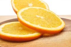 Orange Frucht getrennt auf weißem Hintergrund Lizenzfreies Stockbild