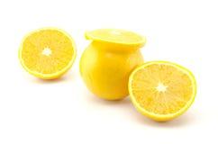 Orange Frucht lokalisiert auf Weiß Stockfotos