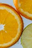 Orange Frucht mit Zitrone Lizenzfreie Stockbilder