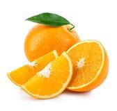 Orange Fruchtnahaufnahme lokalisiert auf einem weißen Hintergrund Lizenzfreies Stockbild