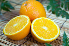 Orange Fruchtsegmente Stockfoto
