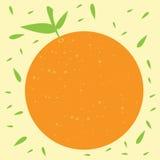 Orange Fruchtvektorillustration Lizenzfreie Stockfotos
