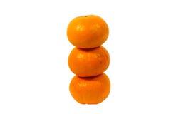 Orange Fruchtweißhintergrund Stockbilder