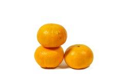 Orange Fruchtweißhintergrund Stockbild