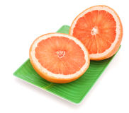 Orange fruit. Eating with A orange plate on vitamin Stock Photo