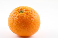 Orange fruit. Single orange fruit on white Stock Photos