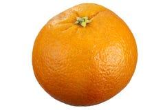 Orange fruit. Close up of a orange fruit isolated on white background, focus stacking Royalty Free Stock Image